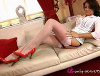 Bryoni-Kate in white stockings