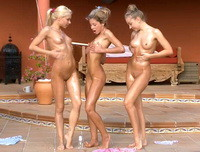 18 Only Girls - Three oiled lesbians