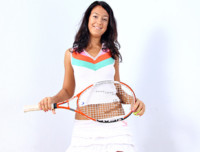 Sporty Nubile tennis player strips and masturbates