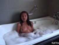 Kat Young - sexy asian kat young having a bubble bath