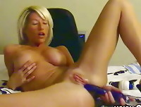 Marissa loves to masterbate on webcam. Watch as she uses a huge massager on her clit, and then switches to a dildo for some penetration.