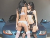 Karla Spice - Latina teens Karla and Stefi are sexy in front of a hot car