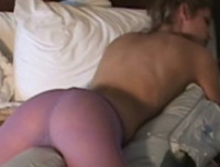 Shiny Movies: Lola dryhumping on her bed all alone