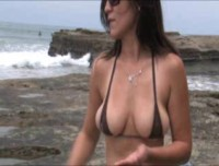 Lori had the meatiest cameltoe that swallowed up her thong deep inside her plump pussy lips and shaved smooth labia that looked like a tasty desert ready to be devoured.