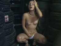 Emily18 - horny surrounded by tyres