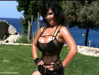 Denise Milani in Action Girl - photoshooting