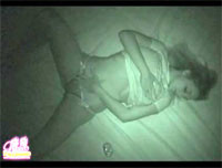 Nikki Sims can't resist the temptation to touch herself before sleep - night vision spy camera