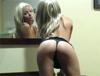 Kiss Kara Getting Naughty In Front Of The Mirror
