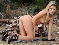 Rachel McDonald gets naked in the woods