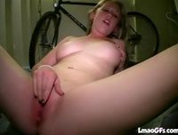 Busty amateur masturbating in front of her boyfriend