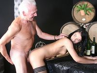 Old waiter fucks his young assistant