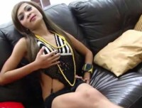Pretty Thai chick gets her groove on with a toy